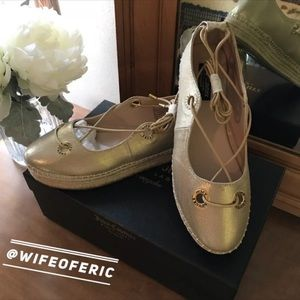 Juicy Couture Gold Espadrilles New in Box FINAL💲